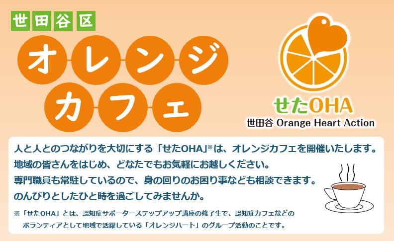 せたOHA(世田谷Orange Heart Action) <br>オレンジカフェ